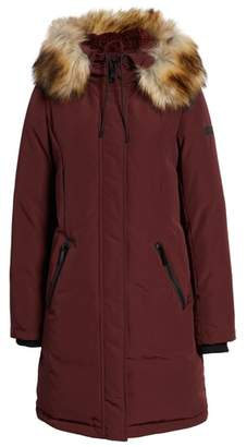 Sam Edelman Faux Fur Trim Down Jacket