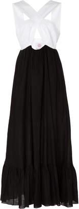 Gül Hürgel Crisscross-Bandeau Linen Maxi Dress Size: XS