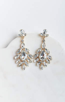 MUMU Rosa Crystal Statement Earrings ~ Gold/Silver