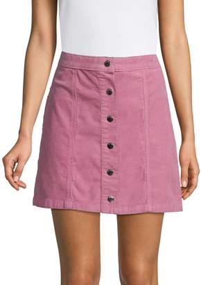 Rag & Bone Buttoned Corduroy Mini Skirt