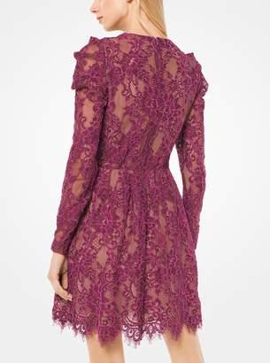 MICHAEL Michael Kors Scalloped Corded Floral Lace Dress