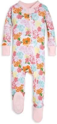 Burt's Bees Blooming Flowers Organic Baby Zip Up Footed Pajamas