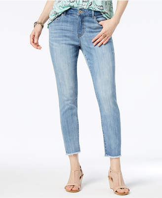 Style&Co. Style & Co Skinny Frayed-Cuff Ankle Jeans