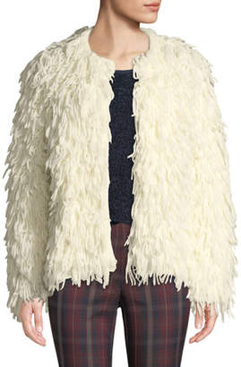 Rag & Bone Amber Shaggy Wool Fringe Jacket
