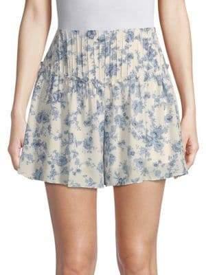 Moon River High-Waist Floral Shorts
