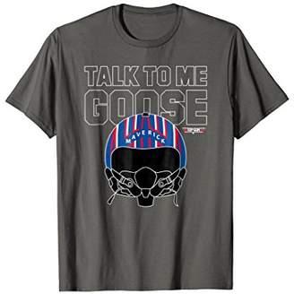 Top Gun Talk To Me Goose Maverick Helmet T-shirt