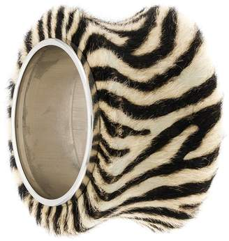 Christian Dior Pre-Owned 1990's large zebra cuff