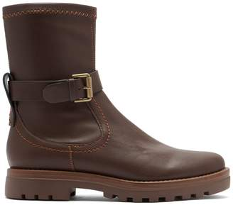 See by Chloe Trek buckled leather ankle boots