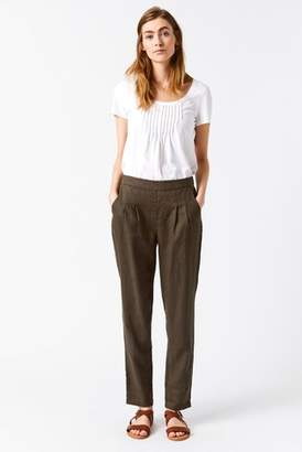 Next Womens White Stuff Green Maison Linen Trouser