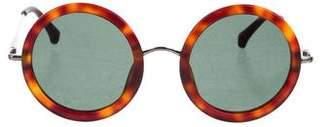 Linda Farrow Tinted Circular Sunglasses