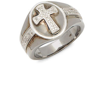 Effy Silver 0.17 Ct. Tw. Diamond Cross Ring