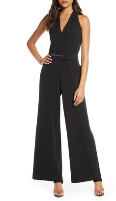Julia Jordan Sleeveless Wide Leg Jumpsuit