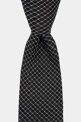 DKNY Black Cross Pattern Tie