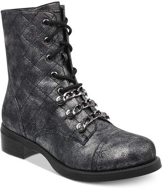 G by Guess Meera Combat Booties Women's Shoes