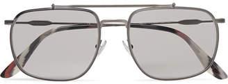 Prada Aviator-Style Gunmetal-Tone Sunglasses