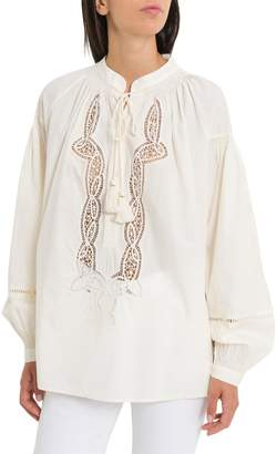 Tory Burch Blouse With Lace Inserts