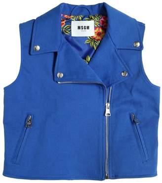 MSGM Stretch Cotton Gabardine Vest