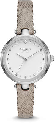 Kate Spade Holland scallop grey leather watch