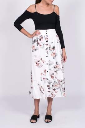 Moon River Floral Midi Skirt