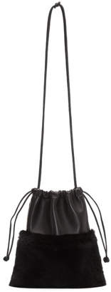 Alexander Wang Black Fur Mini Ryan Dustbag Clutch