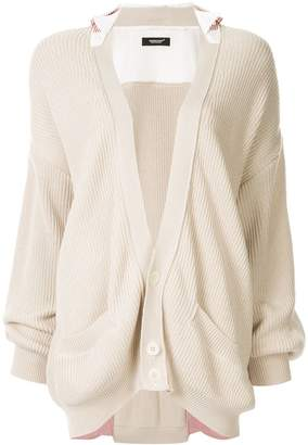 Undercover cotton layered cardigan