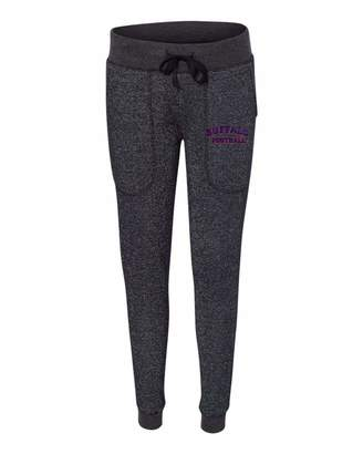 Buffalo David Bitton Go All Out Black/Silver Womens Football Embroidered Glitter Joggers