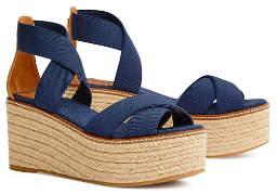 Tory Burch Frieda Mid-Heels Espadrilles Sandals