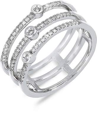 Carriere JEWELRY Triple Row Diamond Stackable Ring