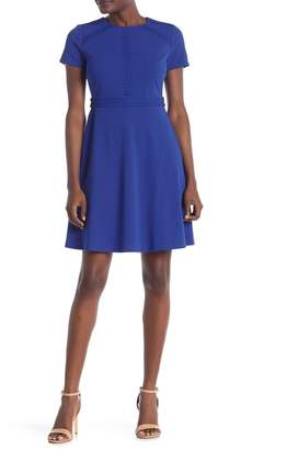 Spense Fit and Flare Scuba Crepe Dress