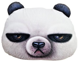 JuJu Smiling 3D Printed Panda Head Pillow KT00069 (Cute, Super Soft), For Living Room Sofa Bed Car Sea Toy Cute Gift~