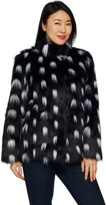 Dennis Basso Platinum Collection Stand Collar Coat