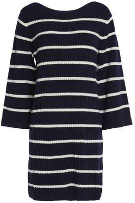 Ganni Ribbed Striped Merino Wool-Blend Mini Dress