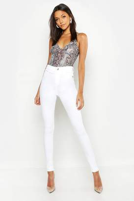boohoo Tall Ecru Jeggings