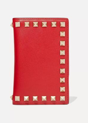 Valentino Garavani The Rockstud Leather Wallet - Red