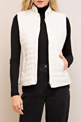 Entro White Quilted Vest