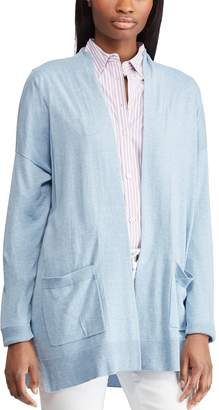 Chaps Women's Relaxed Open-Front Cardigan