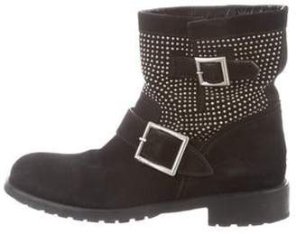 Jimmy Choo Suede Stud Ankle Boots Black Suede Stud Ankle Boots