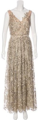Theia Embroidered Evening Dress $300 thestylecure.com