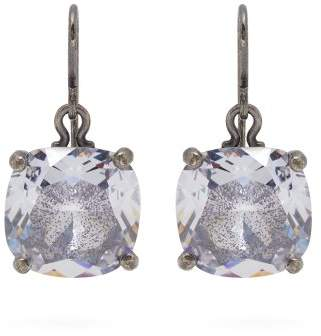 Bottega Veneta Cubic Zirconia Drop Sterling Silver Earrings - Womens - Silver