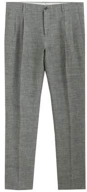 MANGO Regular-fit linen trousers