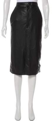 Joseph Faux Leather Midi Skirt