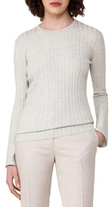 Women's Akris Rib Knit Stretch Cashmere & Silk Top $995 thestylecure.com