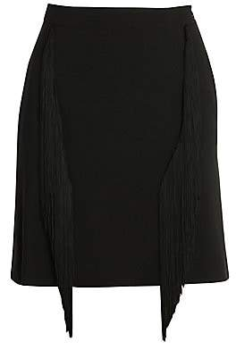 Stella McCartney Men's Cady Fringe Stretch Pencil Skirt