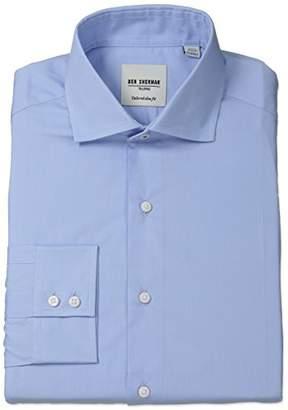 Ben Sherman Men's Slim Fit Oxford Spread Collar Dress Shirt