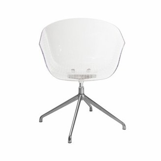 clear Orren Ellis Sanem Acrylic Contemporary Reception Chair Orren Ellis