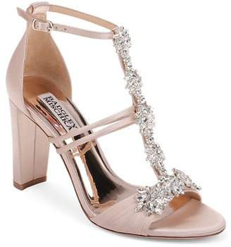 Badgley Mischka Women's Laney Embellished T-Strap Sandals
