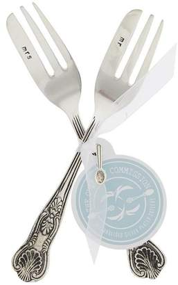 The Cutlery Commission Silver-Plated Mr and Mrs Cake Fork Set
