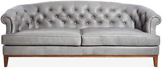 One Kings Lane Wilshire Sofa - Pewter Leather