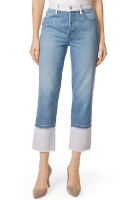 J Brand Wynne High Waist Crop Straight Leg Jeans