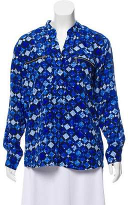 MICHAEL Michael Kors Geometric Print Long Sleeve Top